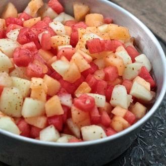 Melonisalaatti chilillä