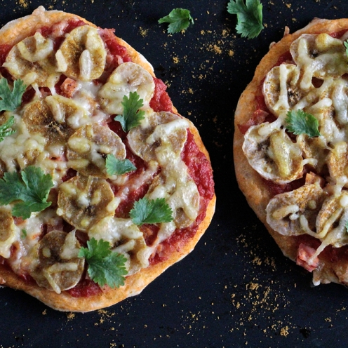 Banaani-curry-pizza