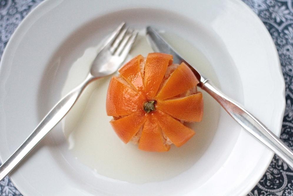 Karamellisoitu appelsiini